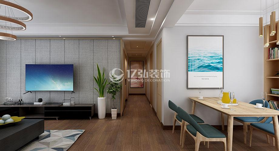 汉水华城151平米现代风格装修案例,流畅温馨,时尚利落!