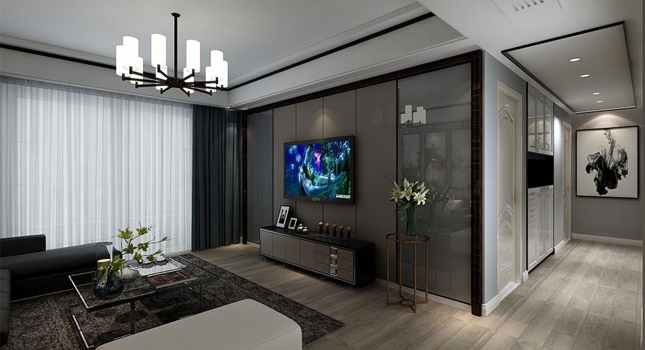 汉水华城151平米现代风格装修案例,蕴含文化气息的雅致空间!