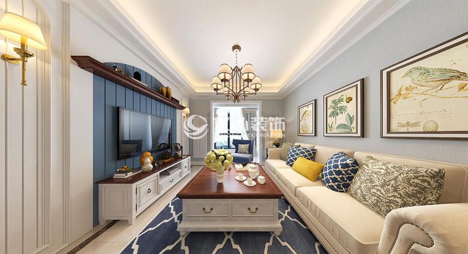 襄阳汉水华城90平米简美风格装修案例,清新随意,俏皮温馨!