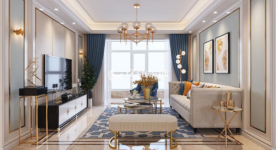 襄阳东津世纪城123平米现代轻奢风格装修,享受品质生活之美!