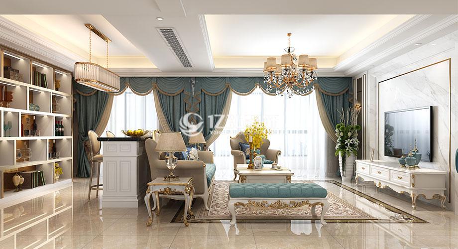 襄阳山河万里143平米法式风格装修案例,精致浪漫有品位!