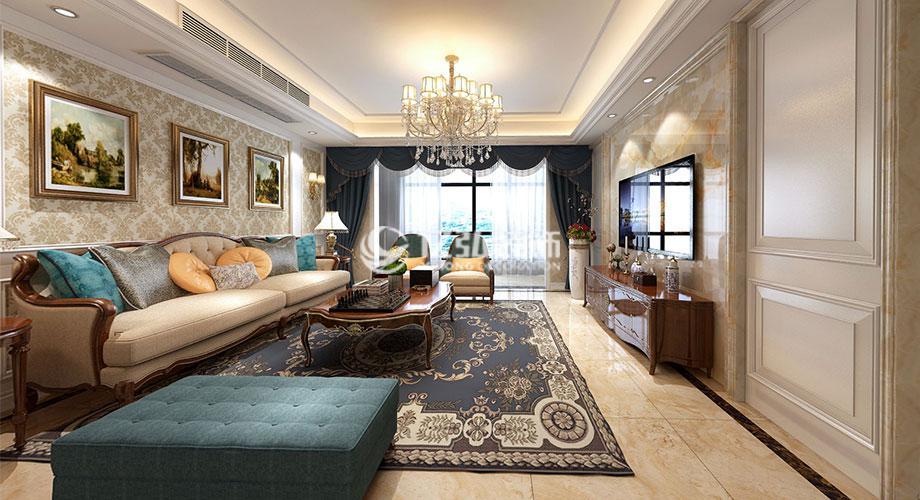 襄阳国色天襄180平米四室两厅简欧风格装修案例,奢华而不失内涵!