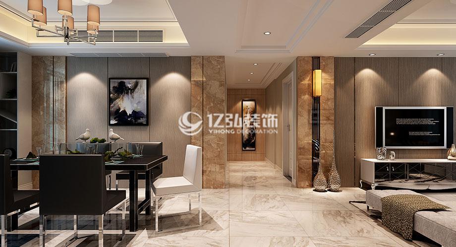 襄阳国色天襄138平米现代风格装修案例