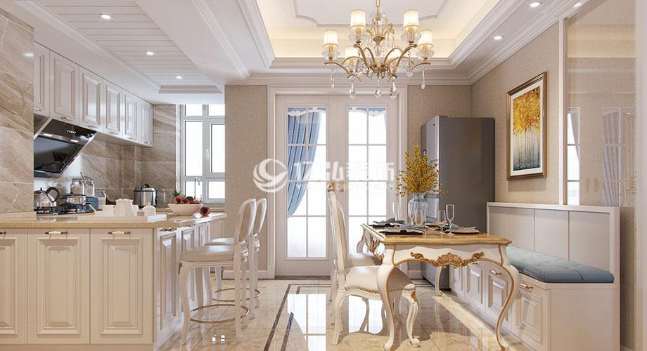 襄阳东津世纪城122平米简欧风格装修,尊享优雅浪漫精致生活!