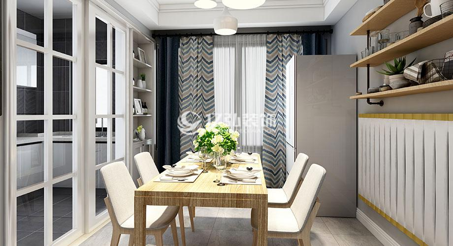 绿地140平米四室两厅北欧风格装修案例,清新温暖、回归自然!