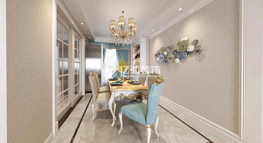 绿地142平米简欧风格装修案例,优雅清新,时尚高雅!