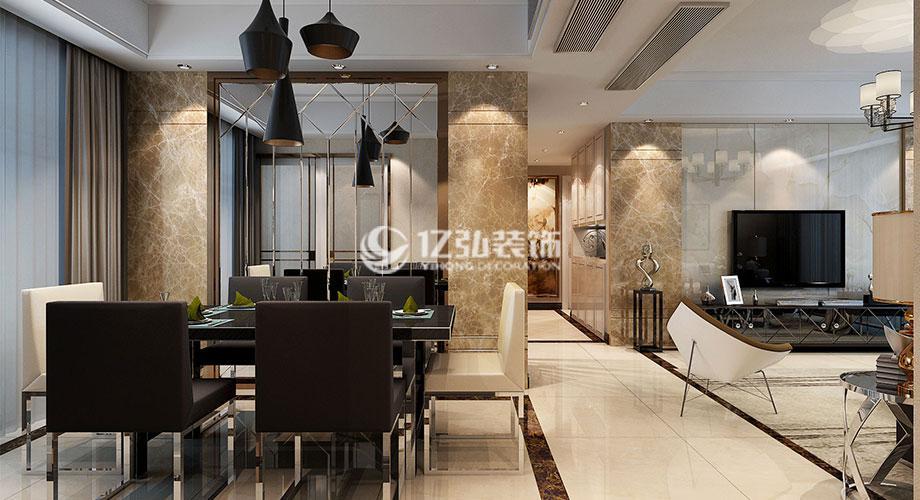 绿地143平米现代风格四居,中性色调更显都市时尚气息!
