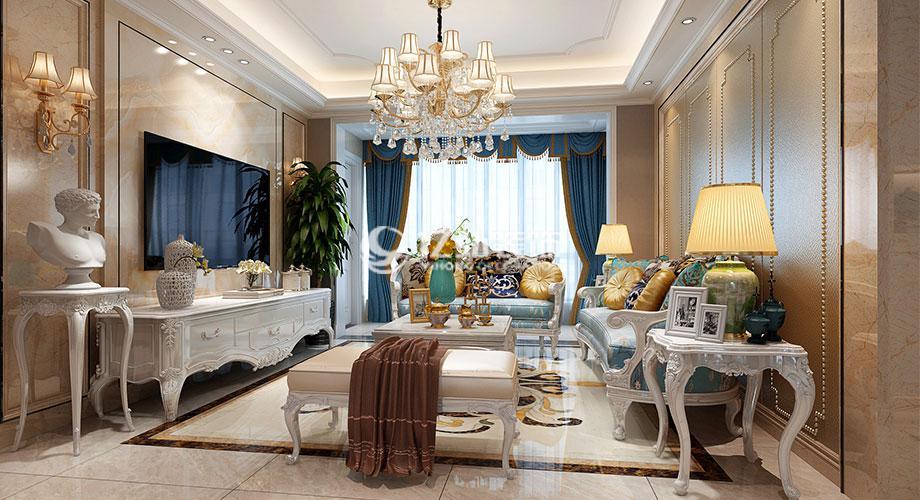 绿地四期140平米欧式风格装修案例,精致奢华,雅致浪漫!