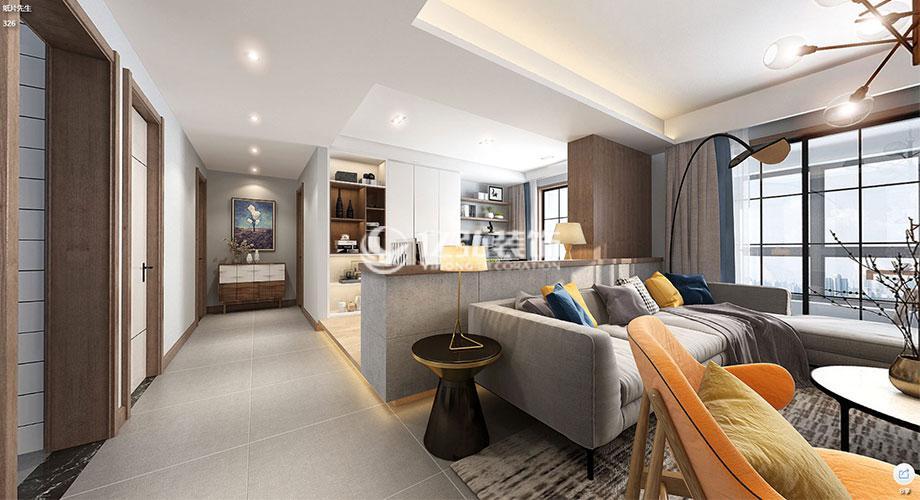 襄阳绿地四期160平米混搭风格洋房设计,简约时尚精致十足!