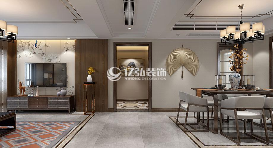 绿地四期160平米新中式风格洋房,精致的设计展现低调的奢华!
