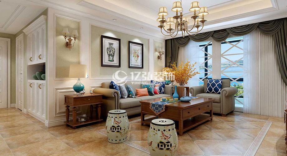 襄阳装修案例襄阳绿地155平米五室两厅简美风格装修案例,和谐舒适,简而不凡!