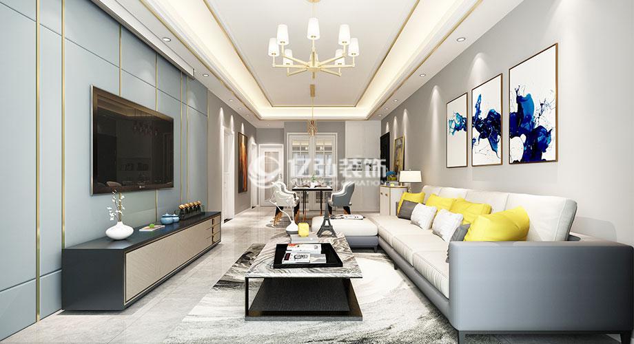 襄阳装修案例襄阳汉水华城128平米现代风格装修案例,轻奢范儿十足!