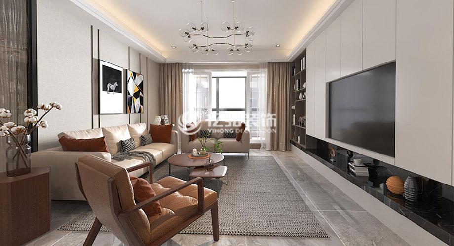 普鑫上东郡130平米现代轻奢风格装修案例,时尚与奢华的完美演绎!