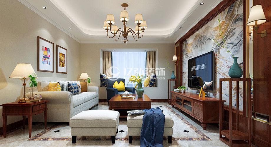 普鑫上东郡138平米三室两厅简欧风格装修案例,高贵典雅,柔美雅致!