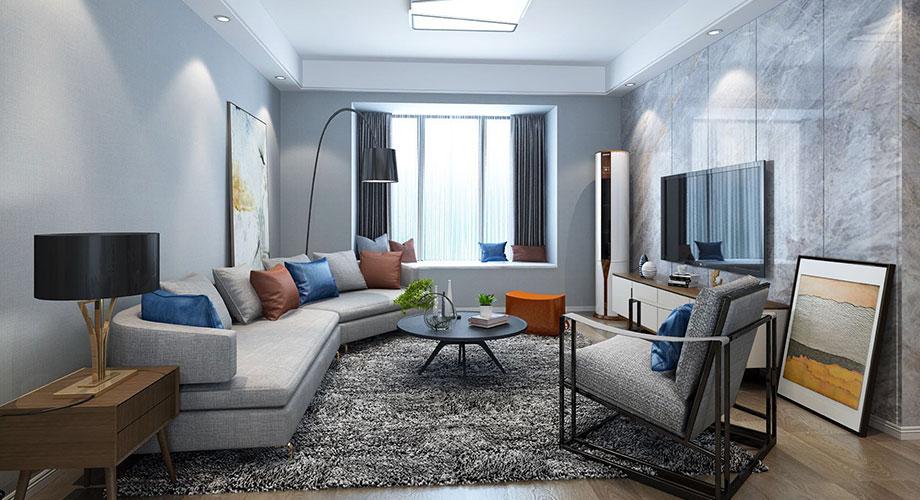 普鑫上东郡139平米现代简约风格装修,淡雅轻奢实用三居!