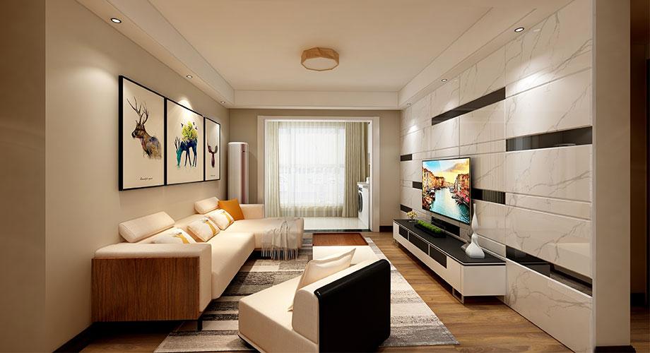 襄阳普鑫上东郡104平米三室两厅现代风格装修样板间,舒适而不失格调!