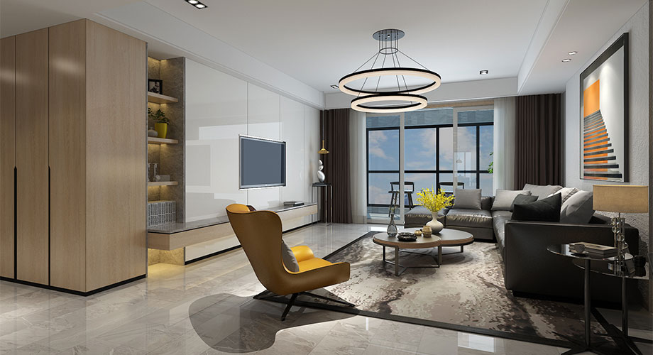 襄阳普鑫上东郡248平米装修案例,感受大户型现代简约设计之美!