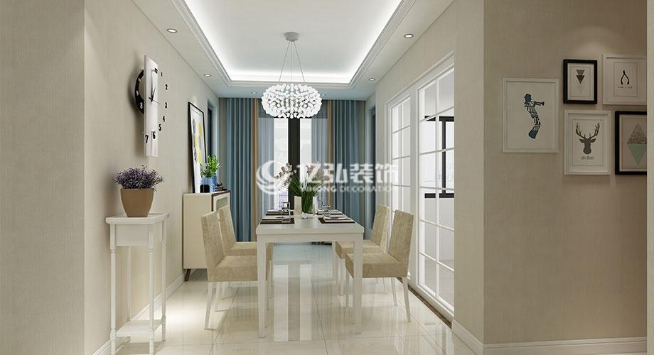 襄阳绿地120平米现代简约三室,简洁干练,明朗温馨!