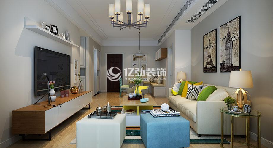 襄阳装修案例襄阳绿地三期90平米两室两厅现代风格装修案例,实用却又不失优雅!