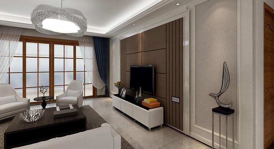 山水华府128平米现代风格装修案例,简洁柔美,优雅质朴!