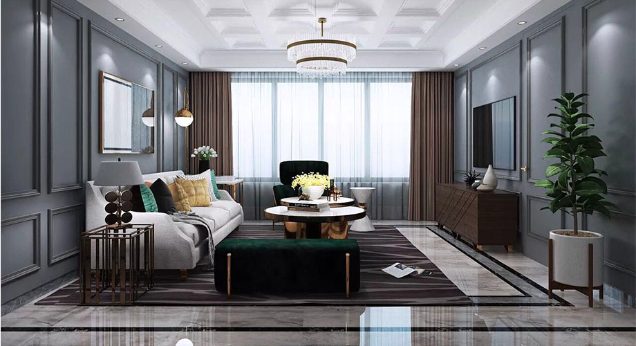 襄阳骧龙国际148平米法式风格装修案例,浪漫又有品位!