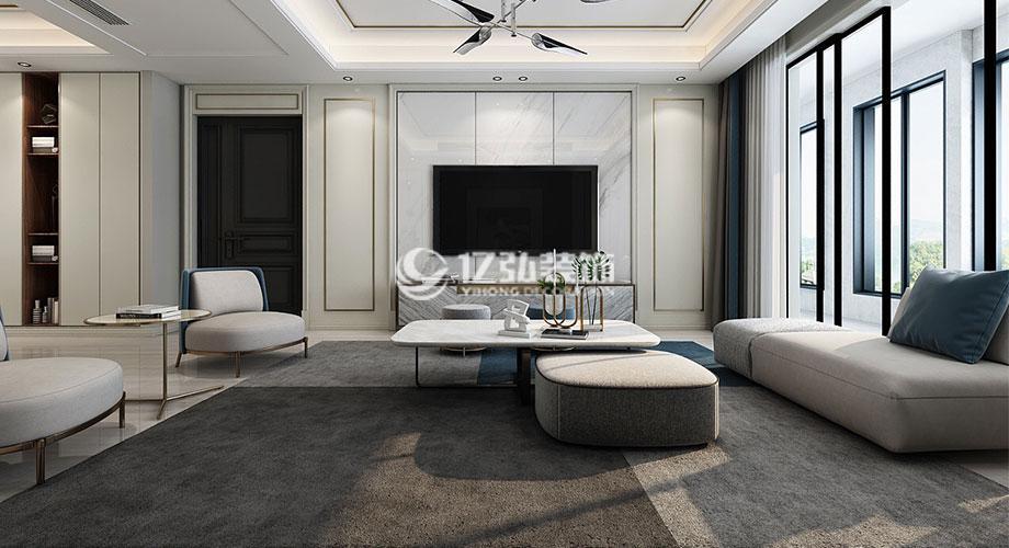 襄阳装修案例山水天成135平米现代轻奢风格装修,时尚与奢华的完美演绎!