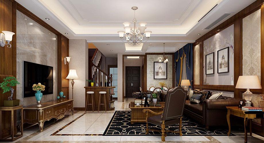 220平米美式风格别墅装修,简洁怀旧,随意浪漫!
