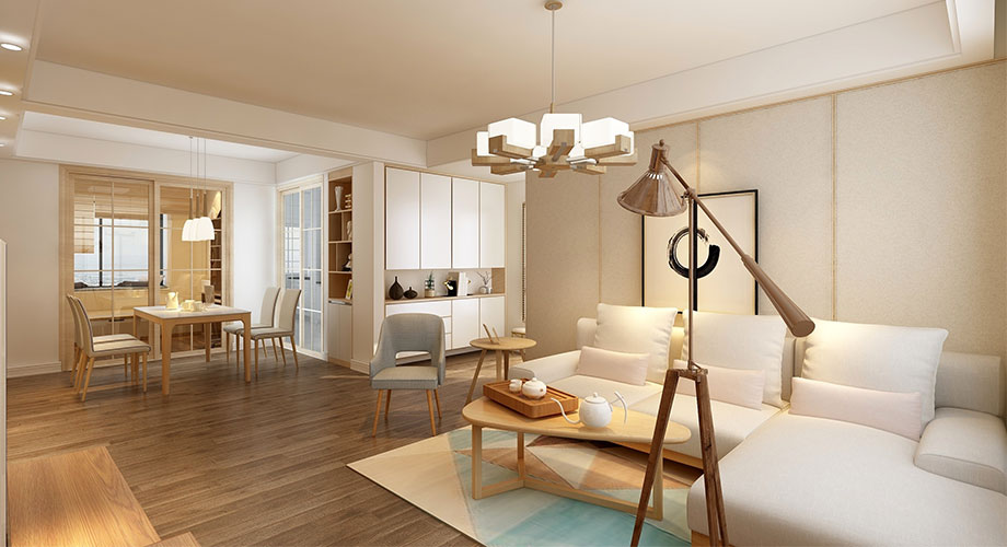 襄阳华立凤凰城108平米现代风格装修案例,温馨舒适,自然浪漫!