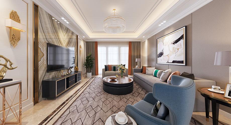 九街十八巷170平米现代风格装修案例,时尚凝练,质感十足!