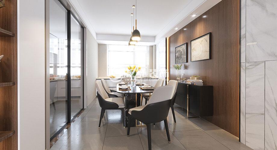 骧龙国际142平米现代简约风格装修案例,时尚舒适的都市之家!