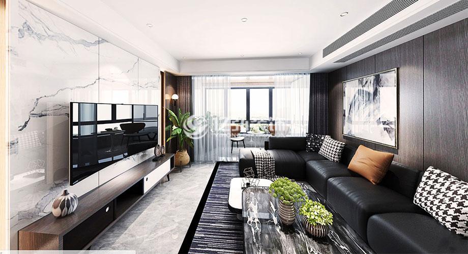 襄阳装修案例山河万里142平米现代风格装修案例,简约时尚大气的都市家装!