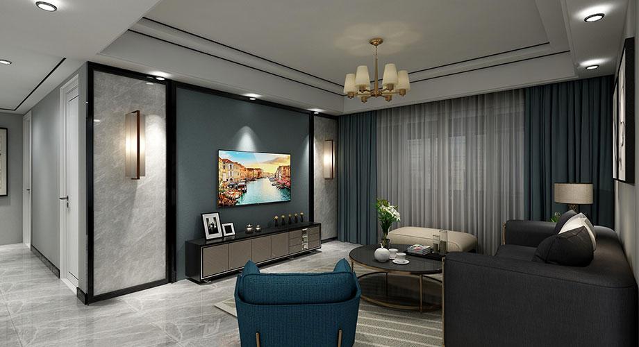海荣幸福里136平米现代轻奢风格装修,黑白风打造质感空间!