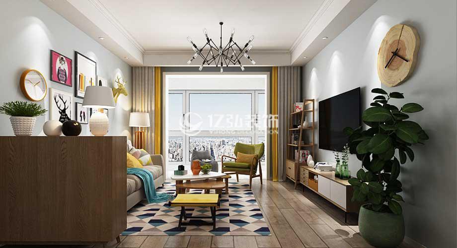普鑫上东郡115平米现代风格装修,时尚利落,温馨干净!