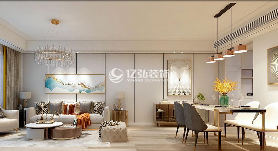 九街十八巷122平米现代轻奢风格装修,感受生活艺术之美!