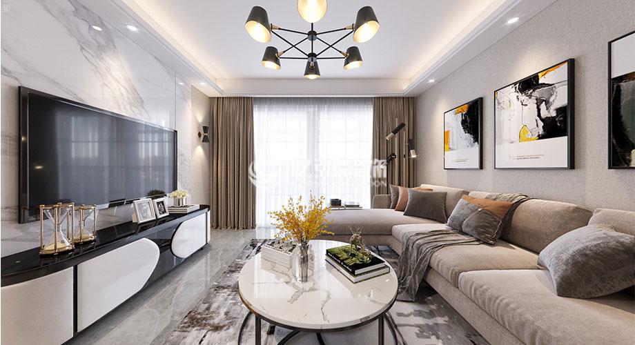 山水家园112平米现代风格装修,高雅品质大方!