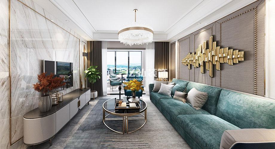 汉江梦135平米现代轻奢风格装修案例,浪漫奢华有品质!