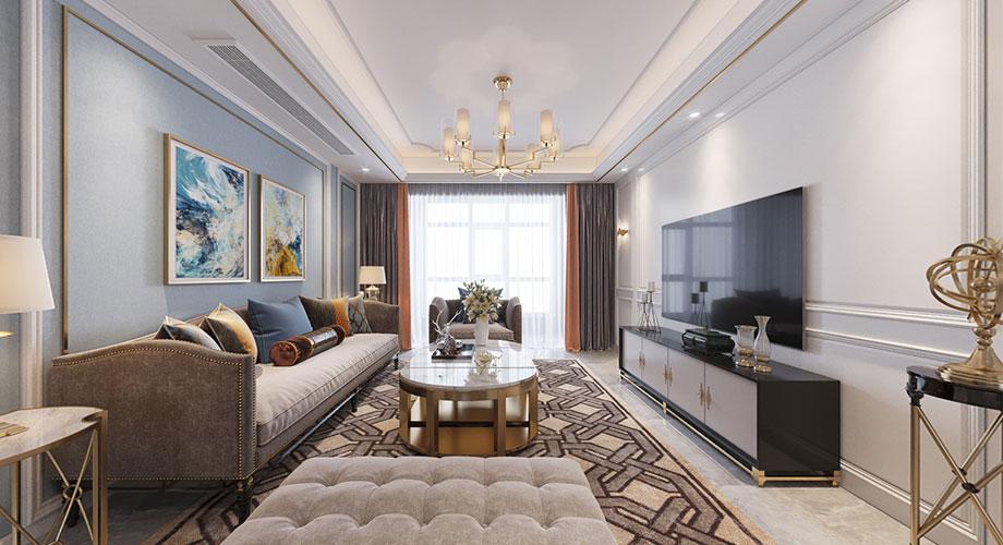 骧龙国际135平米美式轻奢风格装修,优雅从容,奢华浪漫!