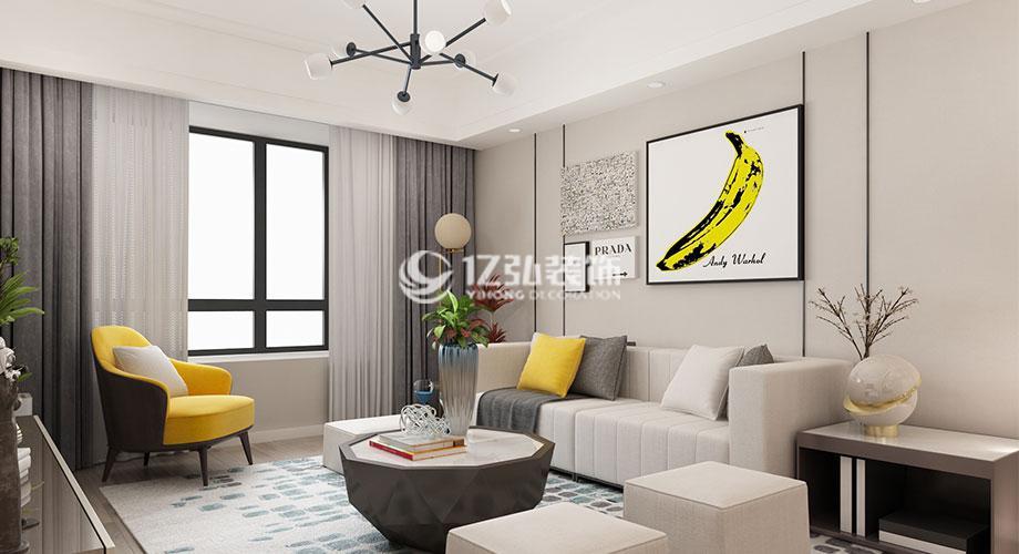 襄阳装修案例名仕家天下120平米现代简约风格装修,简约淡雅,时尚舒适!