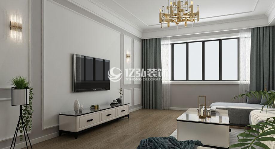 襄阳装修案例112平米简欧风格装修案例,优雅气质三居室!