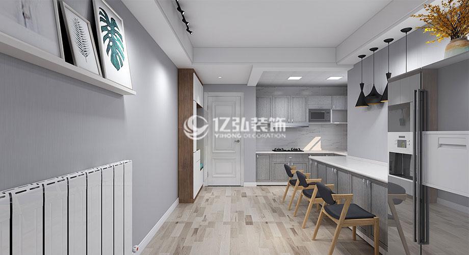 东津世纪城100平米现代风格装修,简洁干练,素净大方!