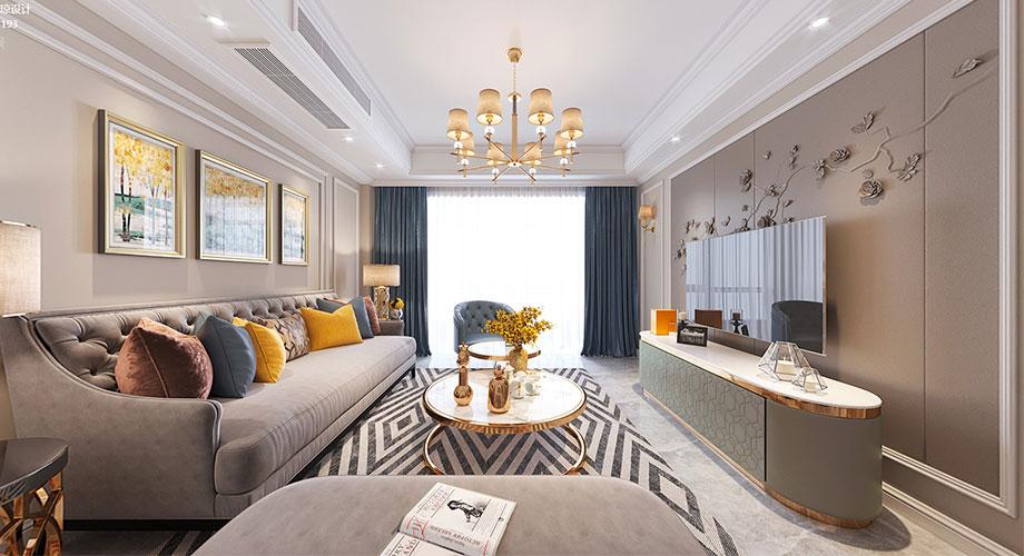 襄阳装修案例国色天襄115平米现代轻奢风格装修,打造高品质家居空间!