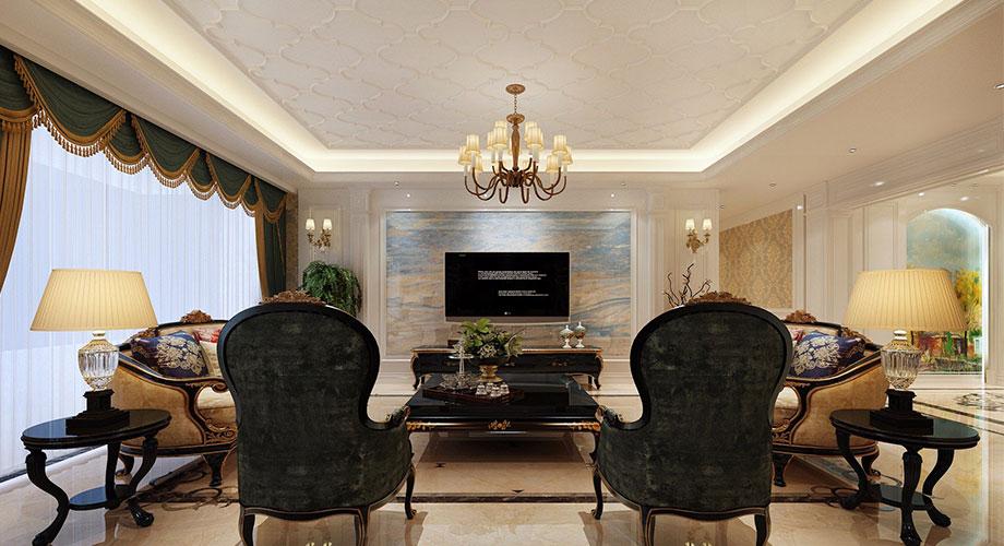 九街十八巷313平米欧式风格大平层装修,奢华尊贵,超有档次!