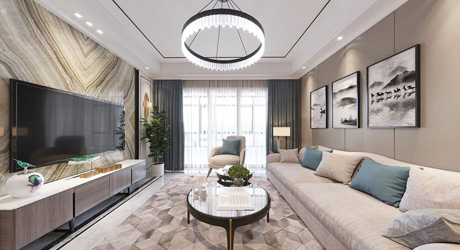 汉水华城150平米现代风格装修案例,时尚精致,优雅浪漫!