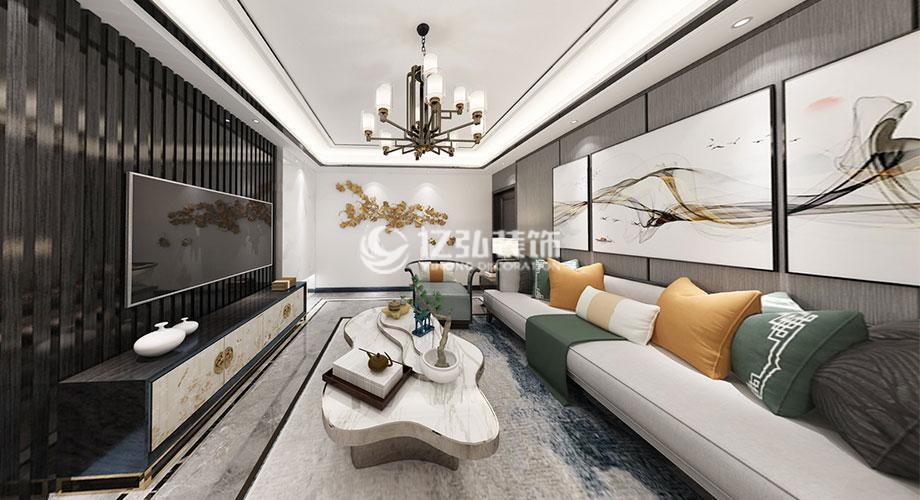 鹿鸣岛92平米新中式风格装修案例,质感大气,韵味十足!