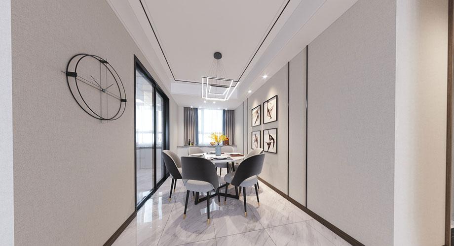 襄阳装修案例富春山居140平米现代轻奢风格装修,精致高端有态度!