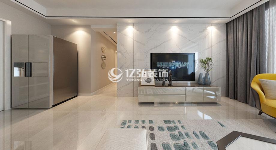 襄阳装修案例卧龙绿洲122平米现代风格装修案例,简约素雅,质感优雅!