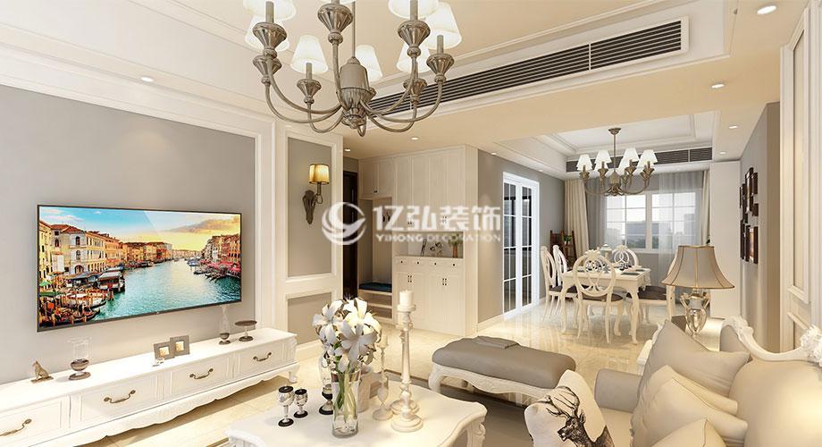 骧龙国际140平米简欧风格装修案例,优雅浪漫又温馨!