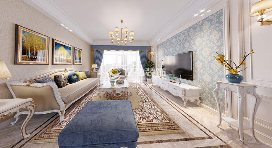 襄阳装修案例山河万里144平米简欧风格装修,清新明亮,彰显气质与优雅!