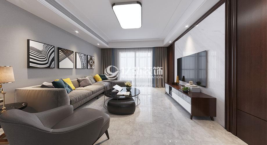 绿地160平米现代风格装修案例,时尚质感休闲雅致!