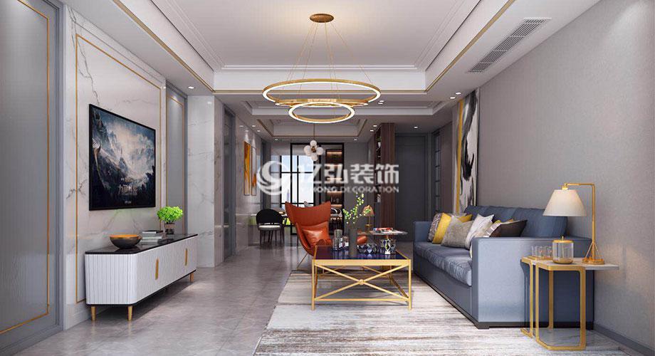 驼峰佳苑150平米现代轻奢风格装修案例,时尚前卫,气质优雅!